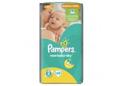 Подгузники Pampers Active Baby-Dry Mini №2 3-6 кг 68 шт, шт