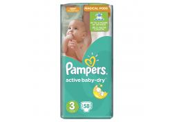 Подгузники Pampers Active Baby-Dry Midi №3 4-9 кг 58 шт (шт.)