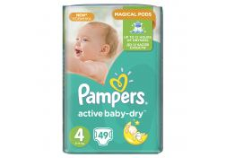 Подгузники Pampers Active Baby-Dry Maxi №4 7-14 кг 49 шт, шт