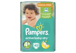 Подгузники Pampers Active Baby-Dry Maxi+ №4+ 10-15 кг 45 шт, шт