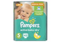 Подгузники Pampers Active Baby-Dry Junior №5 11-16 кг 42 шт, шт