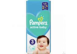 Подгузники Pampers Active Baby-Dry Midi №3 4-9 кг 58 шт, шт
